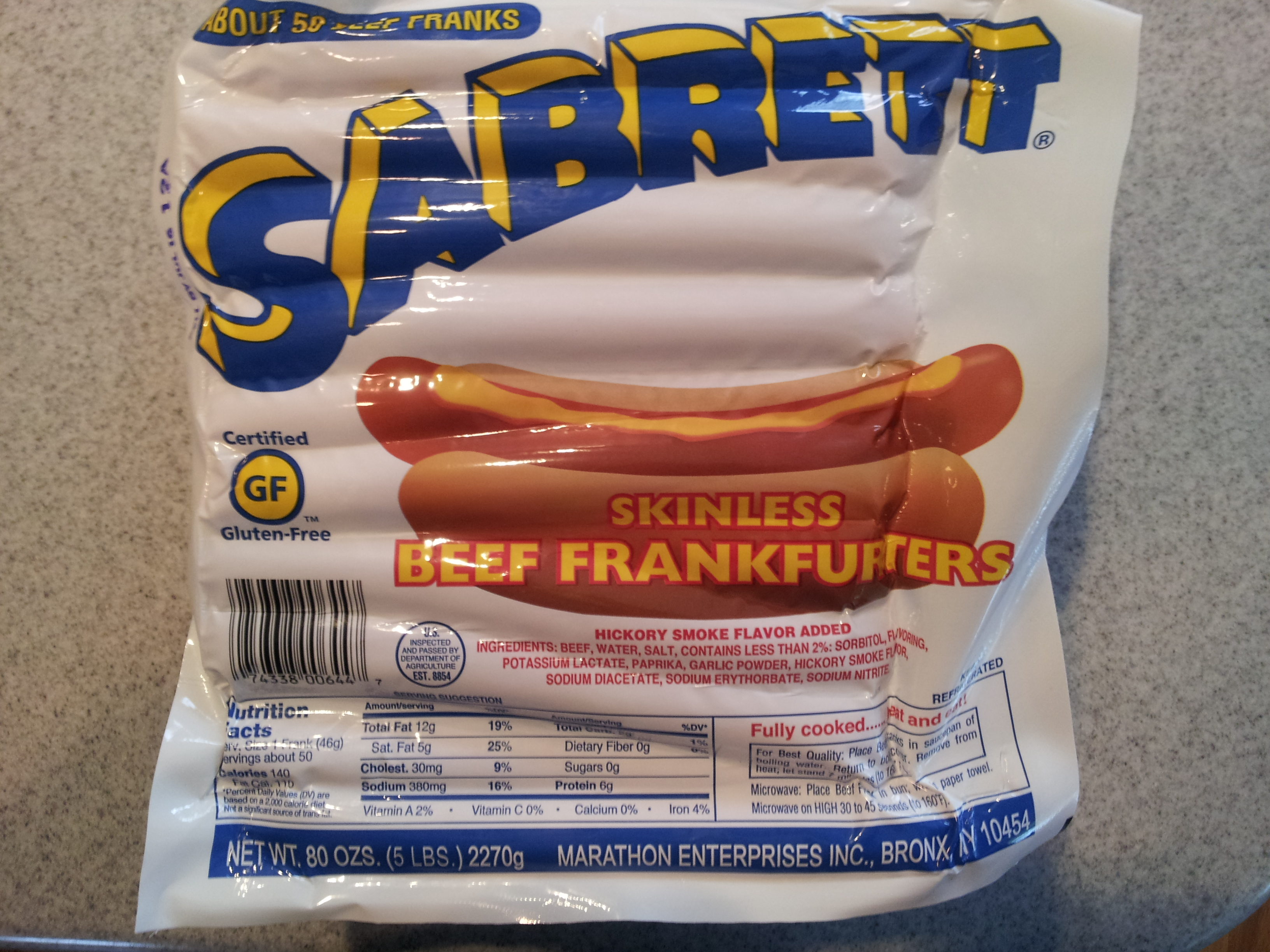Costco Sabrett Hot Dogs